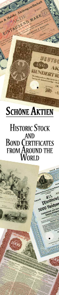 Historic Stock and Bond Certificates from Around the World